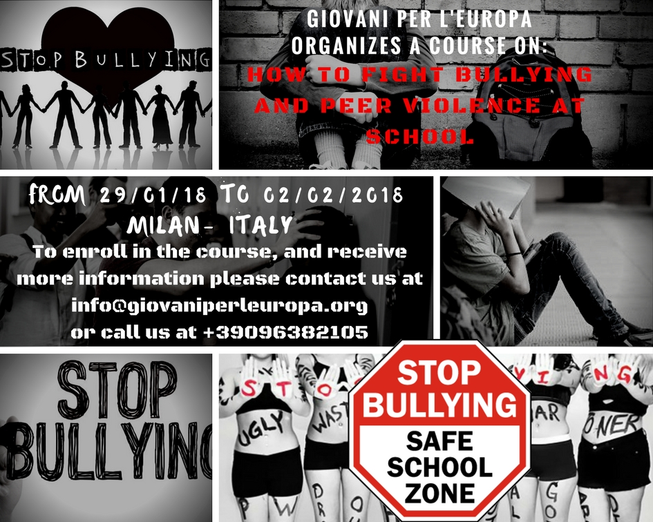 5eb2b331d4a65d Training course Erasmus plus Stop Bullying - Giovani per l'Europa
